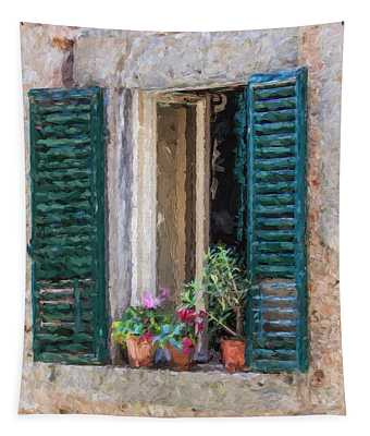 Window Of Cortona Tapestry