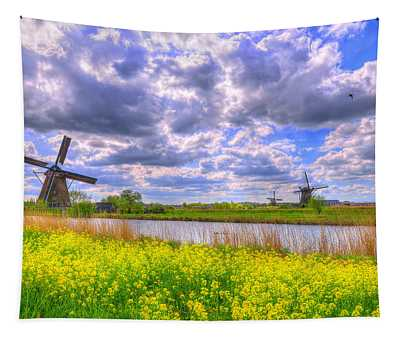 Window To Spring Tapestry