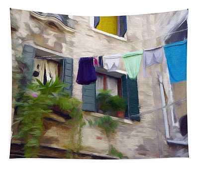 Windows Of Venice Tapestry