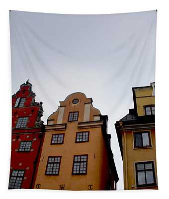 Windows On Gamla Stan Tapestry