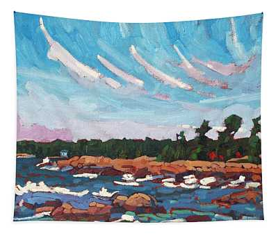 Windy Red Rock Bay Morning Tapestry