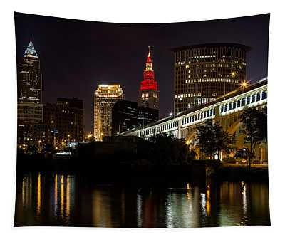 Wine And Gold In Cleveland Tapestry