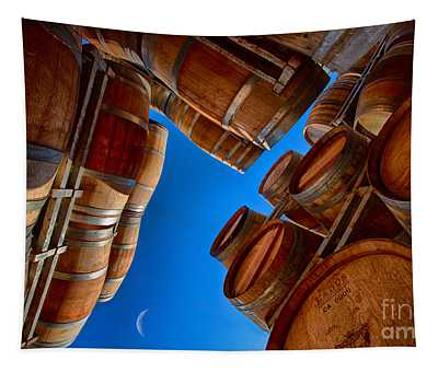 Barrels And The Moon Tapestry