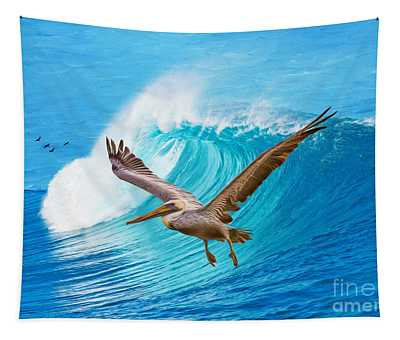 Wings And Waves Tapestry