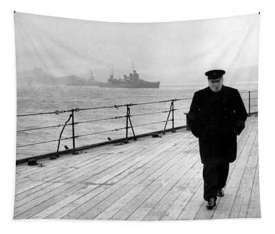 Winston Churchill At Sea Tapestry