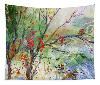 Winter Berries Tapestry