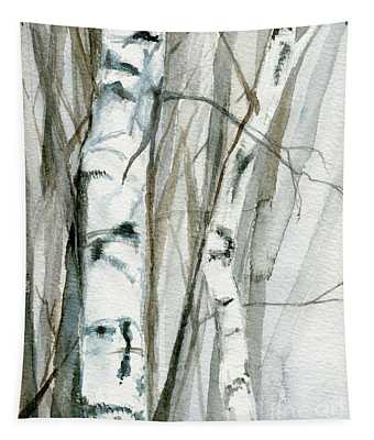 Winter Birch Tapestry