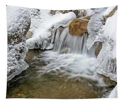 Winter Cascade Nh Tapestry