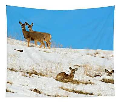Winter Deer Tapestry