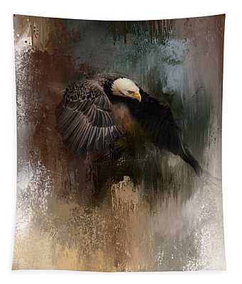 Winter Eagle 2 Tapestry