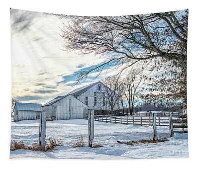 Winter Farm Tapestry