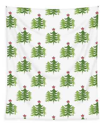 Winter Holiday Trees 2- Art By Linda Woods Tapestry
