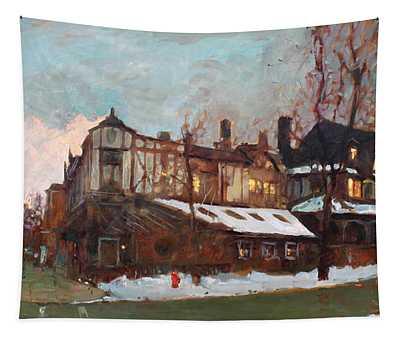 Winter In Buffalo Tapestry