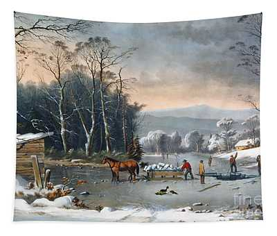 Winter In The Country Tapestry
