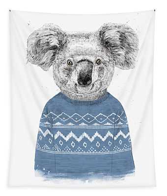 Winter Koala Tapestry
