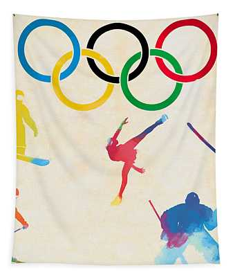 Winter Olympics Games Tapestry
