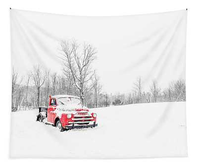 Winter On The Farm Etna New Hampshire Tapestry