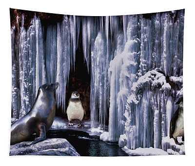 Winter Playground Tapestry