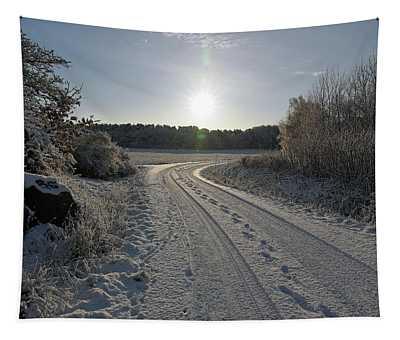 Winter Road Tapestry