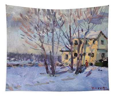 Winter Scene In Tonawanda  Tapestry