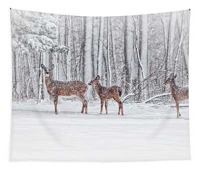Winter Visits Tapestry