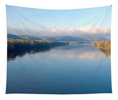Wisconsin River And Prairie De Chen Tapestry