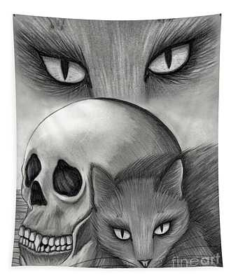 Witch's Cat Eyes Tapestry