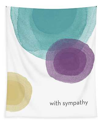 With Sympathy Circles- Art By Linda Woods Tapestry