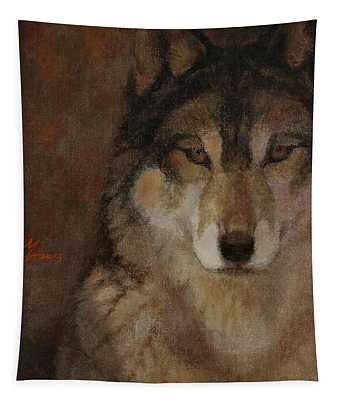 Wolf Head Tapestry