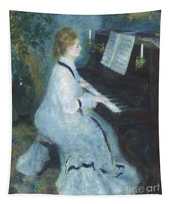 Woman At The Piano Tapestry