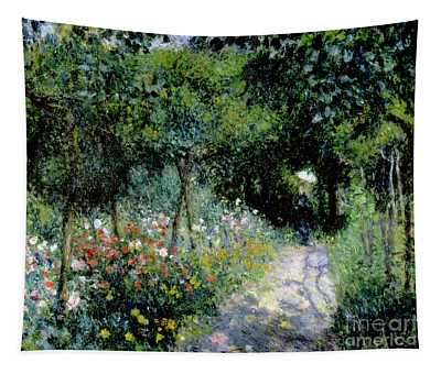 Woman In A Garden Tapestry
