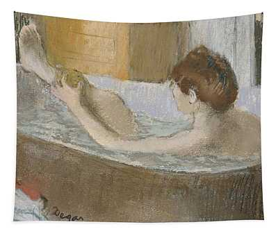 Woman In Her Bath Tapestry