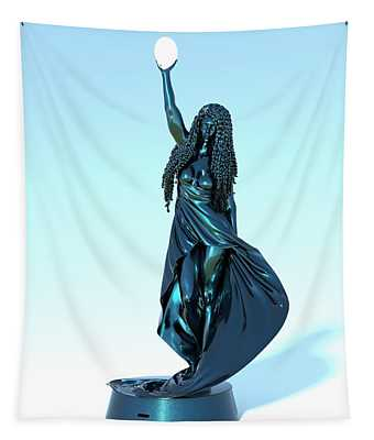 Woman Lamp Number Five Tapestry