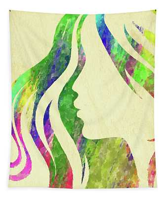 Woman Watercolor Series Tapestry