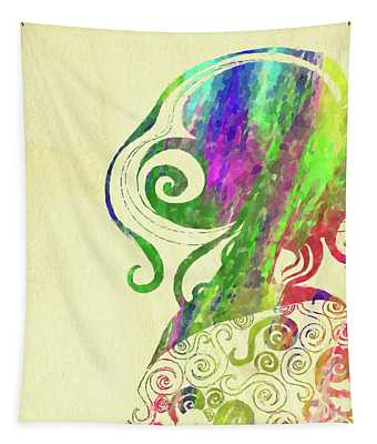 Woman Watercolor Series V Tapestry