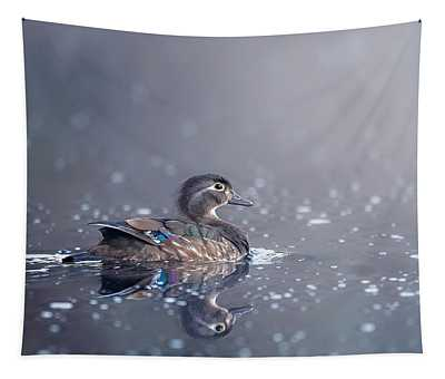 Wood Duck Hen Tapestry
