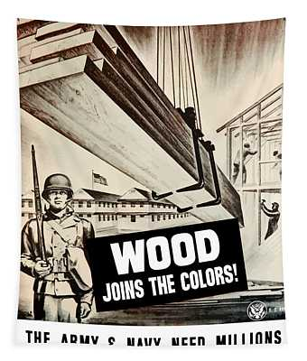 Wood Joins The Colors - Ww2 Tapestry