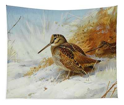 Woodcock Mixed Media Wall Tapestries