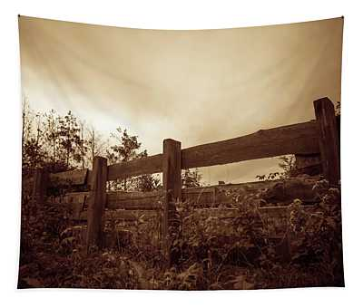 Wooden Fence Tapestry