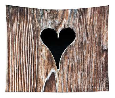 Wooden Heart Tapestry