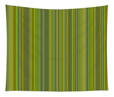 Woodland Moss - Stripes - Green Tapestry