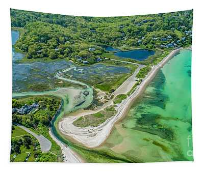 Woodneck Beach At 400 Feet Tapestry