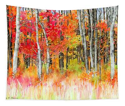 Woodsy Forest Tapestry