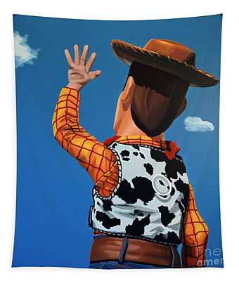 Woody Of Toy Story Tapestry