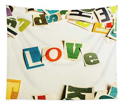 Word Of Love Tapestry