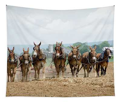 Working The Farm Tapestry