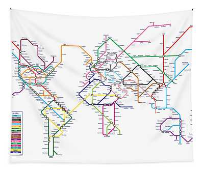 World Metro Map Tapestry