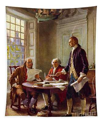 Writing The Declaration Of Independence, 1776, Tapestry