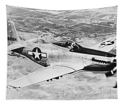 Ww2 North American P51 Mustang Tapestry