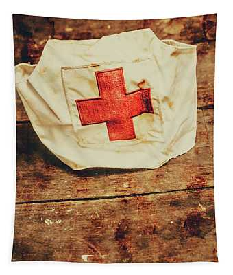 Ww2 Nurse Hat. Army Medical Corps Tapestry